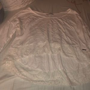 Abercrombie White high low shirt